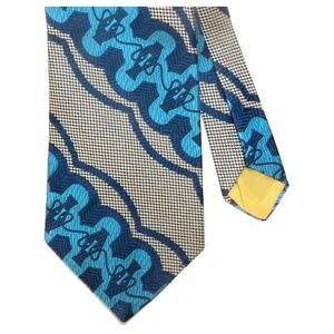 VTG 70s Wide Abbey Couture 72 Blue MOD Tie
